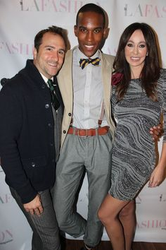 Brian Rodda, Braylen Brooks and Melanie Mar at LA Fashion Mag Oct Issue Party The Thompson in Beverly Hills