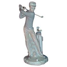 "Lladro Porcelain ""Golfer"" # 4824 #VintageSports  #rubylane"