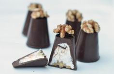 Homemade Walnut Whips recipe - goodtoknow - replace with GF & DF chocolate Walnut Whip, Crazy Kitchen, Homemade Candies, Food Shows, Candy Recipes, Dessert Recipes, Confectionery, Melting Chocolate, Just Desserts