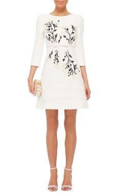 LOVE LOVE LOVE Daisy Embroidered Tweed Dress by GIAMBATTISTA VALLI Now Available on Moda Operandi