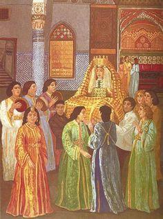 Les tradition arabe du marriage du fes, Morocco.