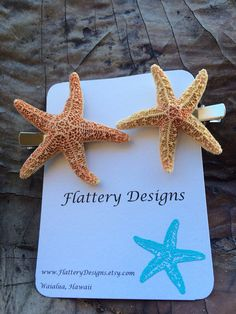 Starfish Hair Clips  on Etsy, $6.00