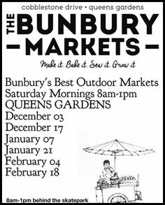 dates,for,Bunbury,markets