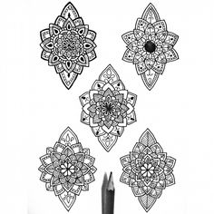 "544 Likes, 9 Comments - Daniel Felipe Villa  (@danielfelipevm_art) on Instagram: ""5 designs ❤ •Dm me if you want any custom design. •Please comment if you like! .  #Blackzentangle…"""