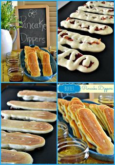 Buffet Pancake Dippers - Bacon and Pancakes come together to make a delicious breakfast! Lady Behind The Curtain