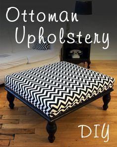 DIY: Ottoman Upholstery