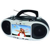 """Supersonic 7"""" LCD Portable DVD Player/Boom Box (SC186D)"""