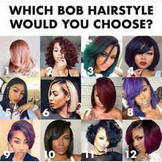Which bob is Ur fav? #hairsinspo #inspo #hairknots #hairstyle #inspired #hairstylist #hairgoals #stunner #youtubers #ponytail #twistbun #specialist #updo #weavingspecialist #hairfashion #blackgirlmagic #lacewigs #beautifulgirls #inspiration #fashion #fleek #feelin check http://ift.tt/1OQhNEc for more