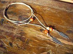 Leather Choker Necklace Feather Choker Leather by JewelrybyAzarina