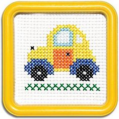Easy Street Little Folks Yellow Taxi Counted Cross Stitch Kit