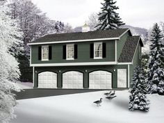 small home over garage plans | Two Car Garage Apartment Garage ...