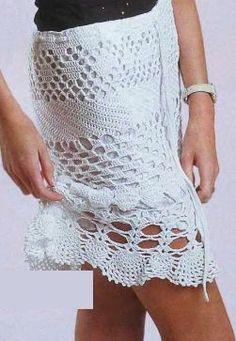 Calados crochet falda - esquema