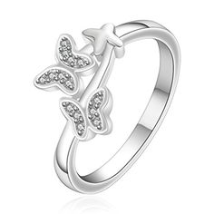 SunIfSnow Women Creative Simulation Butterfly Romantic Couple Fine Silver-Plated Ring 7 SunIfSnow http://www.amazon.com/dp/B016CQRMMY/ref=cm_sw_r_pi_dp_S8bYwb1QYB52F
