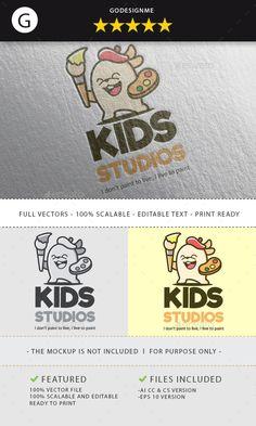 Kids Studios Logo Design, https://graphicriver.net/item/rhino-esport-team-logo-design/19979593