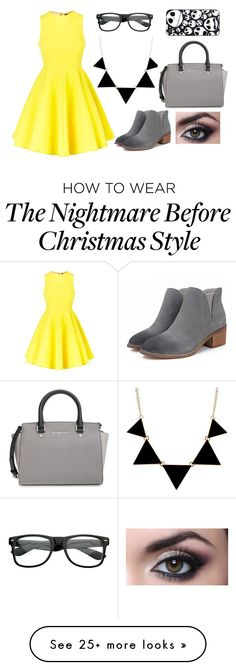 """""""Black and yellow"""" by cupcakekiki on Polyvore featuring AQ/AQ and MICHAEL Michael Kors"""