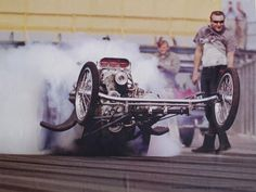 One the purest photos of the origin of rails in drag racing.