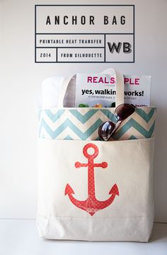Adorable Anchor bag from Whipperberry!! Silhouette machine to do all the work