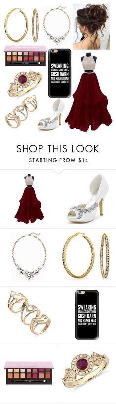 """Red and Gold"" by annawell-1 ❤ liked on Polyvore featuring Old Navy, Bling Jewelry, Casetify and Blue Nile"