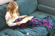 Felted Button Colorful Crochet Patterns Mermaid Tail Blanket Free Pattern