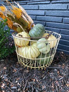 Wire Basket Decor, Wire Egg Basket, Metal Baskets, Large Baskets, Basket Decoration, Wood Tool Box, Wooden Tool Boxes, Etsy Vintage, Vintage Shops