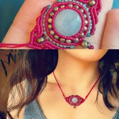Callisto Macrame - Summer warmth :) #handmade #macrame #necklace...