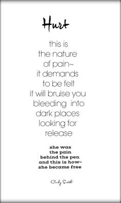 The nature of pain ~ Cindy Smith