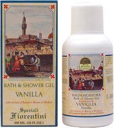 Bath Shower Vanilla. Speziali Fiorentini (Brand e prodotti ideati, creati e sviluppati da Gianni Cresci nel 1992 per Derbe di Firenze) http://www.giannicresci.com/tag/speziali-fiorentini/