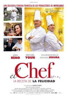 """cartel de """"El chef, la receta de la felicidad"""""""
