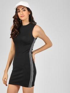 4a720f44 Buy KOOVS Black Strappy Midi Dress for Girls Online in India