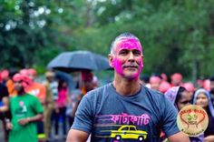 Pinkathon conducted a Holi special, fun 5 KM 'Gulaal Run' to celebrate the spirit of Pinkathon with Milind Soman in the City of Joy.