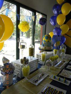 Decoración Boca Soccer Birthday, Soccer Party, 60th Birthday, Tiger Cake, Ideas Para Fiestas, Party Themes, Ale, Table Decorations, Soccer Cakes