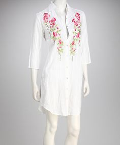 Take a look at this Yuka Beach White Flower Cover-Up by Yuka Beach on #zulily today!
