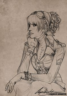 Sketches XI by `Charlie-Bowater on deviantART charlie-bowater.deviantart.com/  Lina, totally