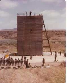 San Onafre Rappel Tower... Camp Pendleton, California...