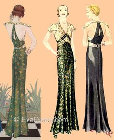 1930's evening dresses - Google Search