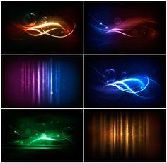 Shiny Neon background art 05 vector