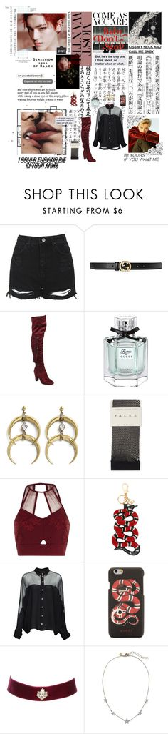 """""""I'm gonna knead your body // the abc kpop tag"""" by tardismia ❤ liked on Polyvore featuring Paul Frank, KEEP ME, Vision, Topshop, Gucci, Beston, A Peace Treaty, Falke, River Island and Charlotte Russe"""