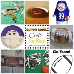 Super Bowl Crafts for Kids~ A great way to keep them occupied during the game or make decorations for the celebration!