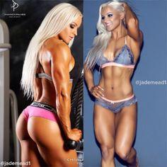 Model @jademead1  left @charliesurianophotographer  right @ckopti  #fitfam #instafit #fitgirls #fit #fitnessmodel #figuremodel #ifbb #shesquats #shelifts #beautifulgirls #mustfollow #girlswithmuscle #girlswholift #babe