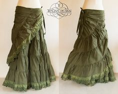 STEAMPUNK HEMP SKIRT  Burning man Hippie Boho by TimjanDesign, kr780.00