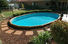 Finding The Best Above Ground Pool Deck Ideas in Exterior Decoration And Design Garden Swimming Pool, Swimming Pool Landscaping, Swimming Pool Designs, Backyard Landscaping, Landscaping Ideas, Backyard Ideas, Best Above Ground Pool, Above Ground Swimming Pools, In Ground Pools