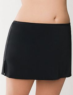 Get maximum coverage with this swim skirt, slitted on the side to provide extra room and comfort. Redesigned to look and fit better than ever. Pair with any of our swim tops. Make a splash in Lane Bryant plus size swimwear, designed to fit and flatter the full figured woman. For the pool or the beach, Nobody fits your curves like Lane Bryant! lanebryant.com