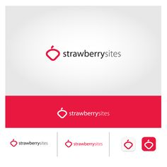 Logo for Strawberry Sites responsive web design service by  One