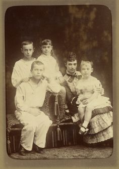 Maria Feodorovna, Empress of Russia with her four eldest children
