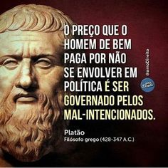 #politica #governo #preço #mensagem #mensagemdodia #instafrase #instalike #bomdia #boanoite #frases #frasesdodia #regram #pensamento #pensenisso #ficaadica #conselho #reflexão #acorda #platão Cogito Ergo Sum, Higher Order Thinking, Word Up, Beauty Quotes, Sentences, Einstein, Philosophy, Psychology, Insight