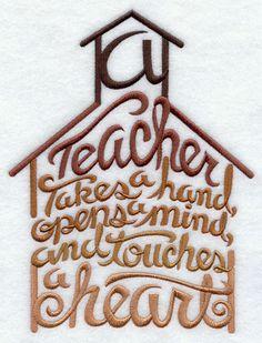 teacher appreciation  poems opens a mind   stitch a teacher takes a hand opens a mind and