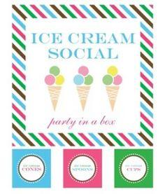 Ice Cream Free Printables