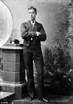 HRH Prince Albert Victor of Wales pictured in 1881   Read more: http://www.dailymail.co.uk/news/article-2599639/Photo-album-Victorian-Englands-great-good-owned-fugitive-Lord-Lucan-goes-auction.html#ixzz2yJllXAso  Follow us: @MailOnline on Twitter   DailyMail on Facebook