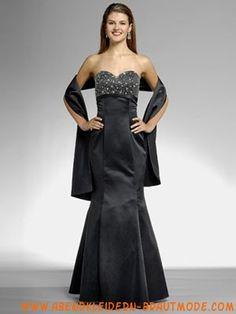 Wunderschöne elegante Abendkleider aus Satin Meerjungfrau