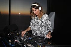 DJ Rachel Poulliat  Georgia May Jagger unveils with a party her Fall Winter 2015-16 new collection designed for Reserved .© photo by Getty Images